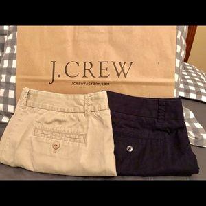 J. Crew set of shorts size 8